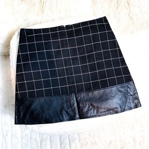 NWT Stitch Fix MoVint Plaid Faux Leather Skirt